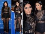 Kim Kardashian Cannes Lions Festival Black Dress Mailonline Party