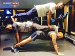 Pic Of The Day Mohanlal And Pranav Workout Session