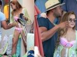 Lindsay Lohan Bikini Holiday Mykonos Greece With Remee Jackman