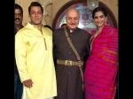 Prem Ratan Dhan Payo Pictures Salman Khan Poses With Sonam Kapoor Anupam Kher