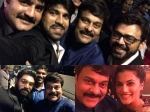 Selfie Spree At Chiranjeevi 60 Th Birthday Bash