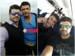 Srujan Selfie With Darshan On The Sets Of Jaggu Daada