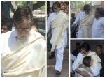Amitabh Bachchan Anil Kapoor Bollywood Celebs Attend Aadesh Shrivastava Funeral
