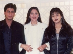 Flashback Pictures Shahrukh Khan Gauri Khan Looking Adorable With Simi Garewal