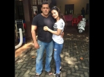 Salman Khan With Ameesha Patel On The Sets Of Prem Ratan Dhan Payo