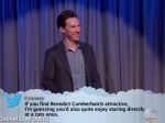 Celebrities Read Mean Tweets Jimmy Kimmel Live Andrew Benedict Salma Hayek More