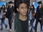 Shahrukh Khan Son Aryan Khan Spotted In New Look With Suhana At Mumbai Airport