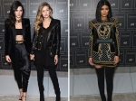 Kylie And Kendall Jenner With Gigi Launched Balmain And H And M Collaboration