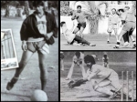 Vintage Pic Shahrukh Khan Playing Football With Kapil Dev