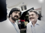 Pic Moment Sudeep Teams Up With Ananth Nag For Olx Ad