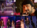 Bigg Boss 3 Diganth Aindrita Ray Chikkanna Promotes Sharp Shooter With Sudeep