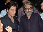 No Clash Shahrukh Khan Hugs Sanjay Leela Bhansali