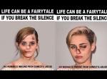 Miley Cyrus Emma Watson Kim Kardashian Kendall Jenner Anti Domestic Violence Campaign