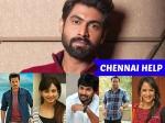 Rana Initiates Mana Madras Kosam Along With Other Telugu Actors For Rain Hit Chennai