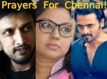 Chennai Floods Kannada Actors Tara Sudeep Srimurali Pray For Chennai