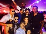 Chiranjeevi Ram Charan Ravi Teja Varun Tej Rana Chilling Out In Goa