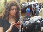 Here Is What Pranitha Subash Did Post Her Car Accident Photos