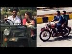 Raees Shahrukh Khan Mahira Khan Shoot In Mumbai Riding Classic Jeep