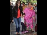 Aaradhya Aishwarya Rai Bachchan At Airport Off To Sarbjit Shoot In Pun