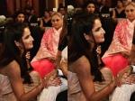 How Sweet Katrina Kaif Goes Down On Her Knees To Meet Amitabh Bachchan