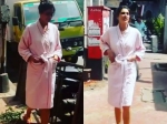 Nargis Fakhri Wears A Bathrobe And Walks Around Mumbai City