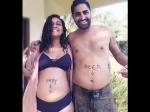 Shveta Salve Flaunts Her Baby Bump In Bikini Goa Pics