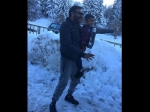 Ajay Devgn Latest Pics With Son Yug On The Sets Of Shivaay In Bulgaria