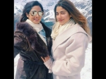 Jhanvi Kapoor New Picture With Mother Sridevi Snow Holiday
