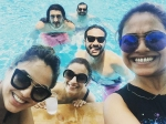 Alia Bhatt Damn Stylish Pool Pictures With Best Friends