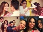 The Fun Begins! New Pictures From The Beautiful Wedding Pooja Of Bipasha Basu & Karan Singh Grover