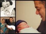 Salman Khan New Pic With Baby Ahil Arpita Khan Newborn Son