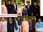 Photos Celebrities At Srija Wedding Reception Chiranjeevi Ram Charan