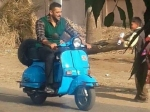 Salman Khan Rides A Scooter On The Sets Of Sultan
