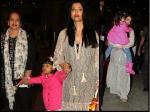 Aishwarya Rai Aaradhya Bachchan Spotted Mumbai Airport Return Cannes