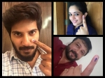 Malayalam Celebrities Who Went To Cast Their Votes