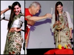 Sonam Kapoor With Ian Mckellen Lord Of Rings Actor Aka Gandalf Picture