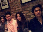 Shahrukh Khan Son Aryan Khan Navya Naveli Nanda Dinner New Picture