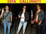 Deepika Padukone Hrithik Roshan Spotted Mumbai Airport Leave For Iifa
