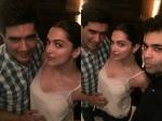 Deepika Padukone Parties With Manish Malhotra And Karan Johar