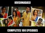 Krishnadasi Completes 100 Ep Sana Shravan Others Celebrate Pics