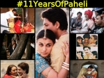 Rare Unseen Pictures Of Shahrukh Khan Rani Mukerji From Paheli Sets