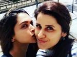 Deepika Padukone Kisses Celebrity Traines Yasmin Karachiwala