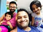 Jayasurya Scares Daughter Veda Pretham Movie