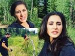 Nargis Fakhri Photoshoot In Storm Mountain In Utah America