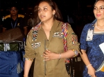 Rani Mukerji Spotted At Mumbai Airport Latest Pictures Sans Adira
