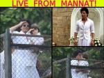 Shahrukh Khan Abram Eid Celebration Pictures 2016 At Mannat