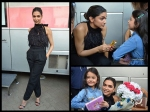 Such A Hottie! Deepika Padukone Looks Gorgeous In Black; Her Adorable Pictures With A Little Fan