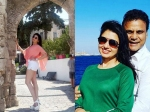 Maine Pyar Kiya Actress Bhagyashree Holidays In Greece