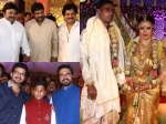 Celebs At Radhika Sarathkumar Daughter Rayane Abhimayu Mithun Wedding