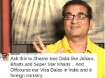 Abhijeet Abusive Tweets Karan Johar Khans Pakistani Actors Uri Attack